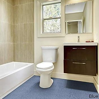 Madison Industries Inc. Olefin Wall To Wall Plush Bathroom Carpet (5x6) Blue
