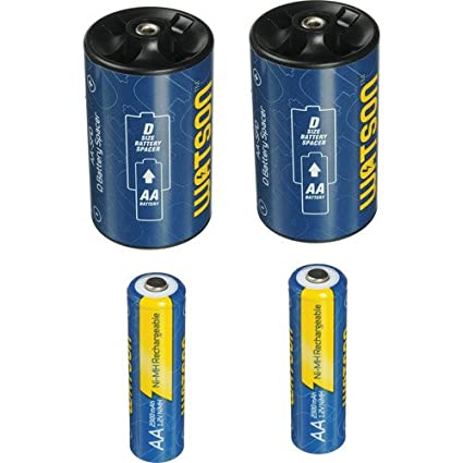Watson D Spacer Pack with 2 AA 2300mAh NiMH..