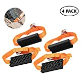 Bili-silly Car Tire Anti-Skid Block,Auto Reusable Car Anti Slip Snow Mud Tire Straps Traction for Car Truck SUV Emergency Winter Driving (4 Pack)