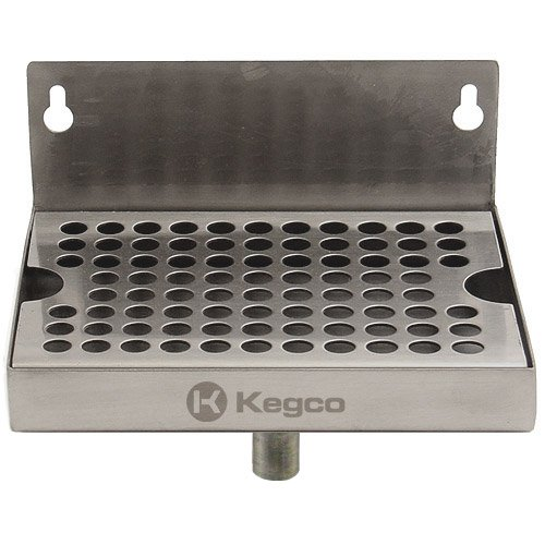 Kegco KC DP-64-D Wall Mount Drip Tray with Drain, 6