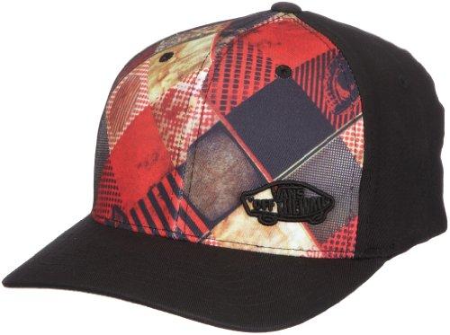 Vans Off The Wall Flexfit-Gorra, Color Rojo - Negro/Rojo, tamaño ...
