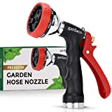 Dependable Garden Hose Nozzle with Easy Grip Handle and...