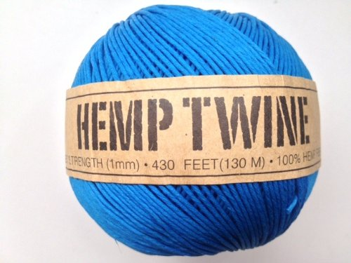 UPC 858431004025, Blue Hemp Twine Cord 1mm 143yd 130m 430ft DIY