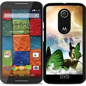 Funda para Motorola Moto X (Génération 2) - De Hadas Con El Barco De Las Mariposas by nicky2342