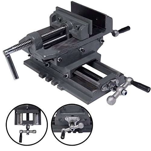 5'' Cross Drill Press Vise X-Y Clamp Machine Slide Metal Milling 2 Way HD by Brand New