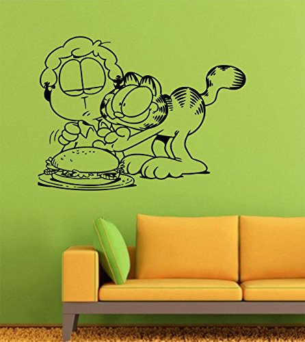 Garfield Cat Red Wall Decals – Vinyl Garfield Cat Stickers for Men Women Kids – Vampire Stickers for Car Truck Windshield Door Window – Removable Kitchen Living Room Home Decor Wall Decals GMO9182