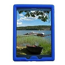 Bobj Rugged Case for Samsung Galaxy Tab A 8 inch Tablet, (SM-T350), Tab A Plus 8 inch (SM-P350) - BobjGear Protective Cover (Batfish Blue)