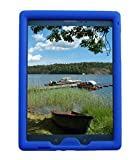 Bobj Rugged Case for Samsung Galaxy Tab A 8 inch 2015 Tablet, (SM-T350), Tab A Plus, (NOT FOR 2017 Tab A2 Model SM-T380) - BobjGear Custom Fit - Patented Venting - Kid Friendly (Batfish Blue)