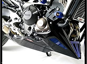Belly Pan YAMAHA MT-09 14-15//XSR900 16 CARBON LOOK-BLUE MESH /& BLUE GRILL