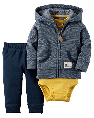 Price comparison product image Carters Boy's Newborn and Infant 3 Piece Oufit Set-Jacket / Vest,  Bodysuit,  Pants (12M,  Handy Man)
