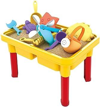 Juego de Juguetes de Mesa de Playa al Aire Libre para niños, 16 Piecs Niños Juguete de Playa de Verano Juego de bebé Grande Cavar Arena de Arena Jugar Herramienta,Yellow: Amazon.es: Deportes