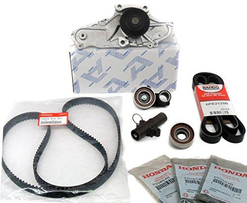 GENUINE / OEM Honda / Acura V6 Timing Belt & Water Pump Seals Pulley Hydraulic Bearings Kit Factory (Water Pump Seal)