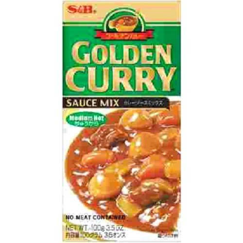 Curry Mild Sauce - S&B Golden Curry Sauce Mix, Medium Hot, 8.4-Ounce (Pack of 5)