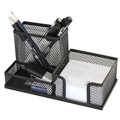 Price comparison product image Slendima Metal Mesh Desktop Organizer,  Pen Pencils Holder Stationery Storage Case / Box Office Home Space Saving Tools - Black