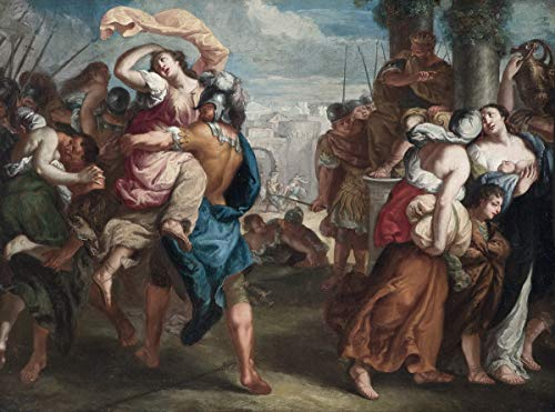 Berkin Arts Theodoor Van Thulden Giclee Canvas Print Paintings Poster Reproduction (Rape of The Sabine Women) Large Size 31.5