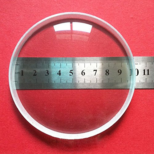 Srate 1pc Optical Glass 100mm Diameter Focal Length -300mm Large Optics Double Concave Lens