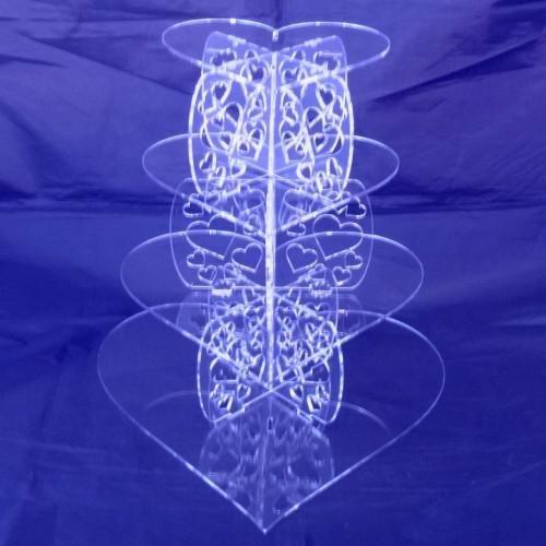 Heart Shaped Design Multi Tier Cake Stand - Three Tier ()