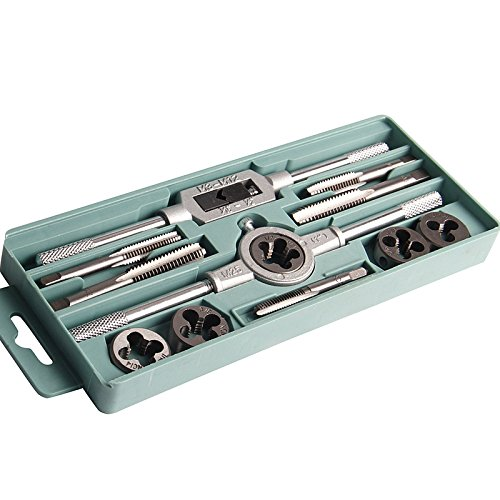 - 12Pcs Tap Dies Set Inch 1/2''-1/4'' Nc Screw Thread Plugs Taps Adjustable Wrench Screw Taps H