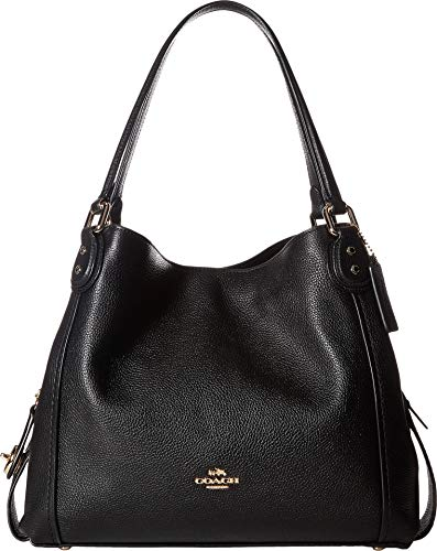 Coach Women's Edie 31 Shoulder Bag, Light Gold, Black, OS