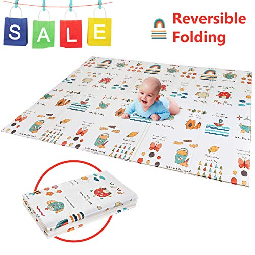 Folding Kids Play Mat | Portable Baby Play Mat | BPA FREE Non Toxic 78.7