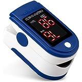 AUA Pulsioxímetro de Dedo Oxímetro de Pulso Oxímetro de Pulso Digital con Pantalla LED Monitor de Oxígeno Portátil…