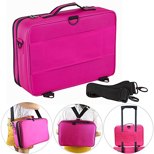 Hotrose Professhional Large Space Cosmetic Artist Organizer - Handle Shoulder Bag - Makeup Bag (Large (Makeup Artist Bags)