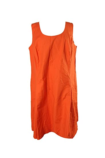 RALPH LAUREN Lauren Plus Size Orange Fit & Flare Dress W at ...