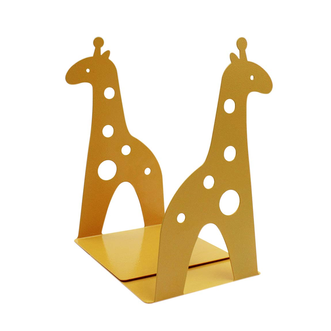 1 Pair Giraffe Heavy Duty Bookend Nonskid Bookend Iron Study Metal Book Ends for Books, DVDs, Magazines, Video Games