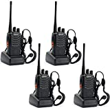 BAOFENG 4pcs BF-888S Walkie Talkie with Built in LED Torch (Pack of 4)
