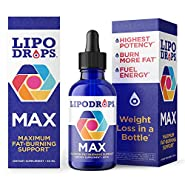 Lipodrops MAX New Weight Loss Drops 60 ml. Diet Drop Now with Concentrated Fat Burning Ingredients: B-12, L-Carnitine & Choline