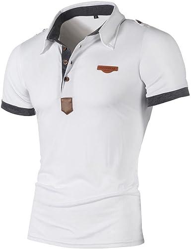 Yying Camiseta para Hombre Hombre Polo Manga Corta Camisetas ...