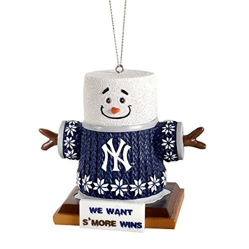 MLB New York Yankees Smores Ornament, Blue, One Size Ny Yankees Ornaments