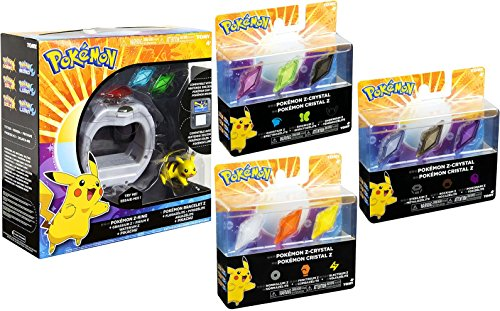 Pokémon Z-Ring and Z-Crystal Bundle Exclusive (Pokemon Added In Ultra Sun And Moon)