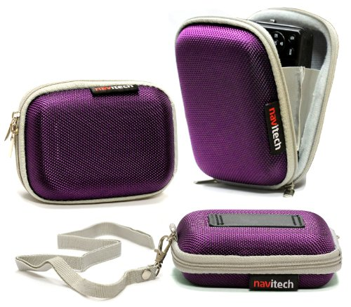Navitech Purple Water Resistant Hard Digital Camera Case Cover Compatible with The Sony Cyber Shot DSC-RX100M2 / DSC-RX100 / DSC-WX300 / DSC-WX200 / DSC-WX80 / DSC-WX60 / DSC-TX30 / DSC-TF1 ()