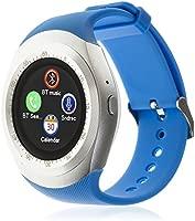 DAM TEKKIWEAR. SMARTWATCH Bluetooth con Pantalla Circular, SIM Y Micro SD.4,5x6x6,5 cm. Color: Azul