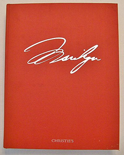 The Personal Property of Marilyn Monroe: Auction catalog, Wednesday 27 and Thursday 28 October 1999