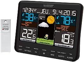 Station météo colorée La Crosse Technology - WS6825 - Noir