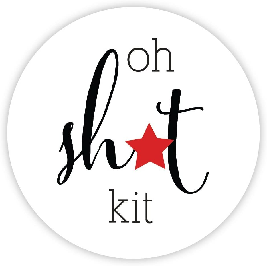 Oh Sht Kit, Hangover Kit Wedding Stickers, Choose Your Colors (#544)