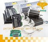 4 axis stepper motor kit - 【US】4 axis nice dual shaft nema 23 step motor 425oz cnc kit