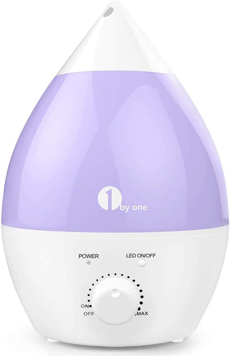 1byone Umidificatore Ultrasuoni Ionizzatore 2.8L, Nebbia Fredda, Silenzioso e con 7 Colori LED, Funzione di Auto Spegnimento