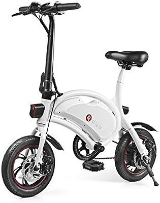 Dyu Bicicleta eléctrica auténtica D2 5.2AH 350 W (hasta 20 km ...
