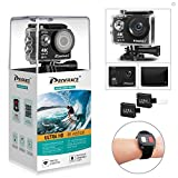 DROGRACE WP350 Sports DV Camera Wifi Video Action Camera Waterproof 4K 60fps 30fps 1080p Full HD for Youtube Underwater Remote Digital Camera Camcorder Accessories Kit 12MP 170 Wide Angle 6G Lens