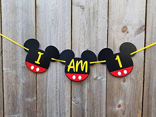 mickey mouse clubhouse birthday banner |mickey mouse birthday banners | Mickey Mouse Birthday Banner| Mickey mouse party supplies| Mickey mouse clubhouse part (I AM ONE) (Club Matching Chairs)