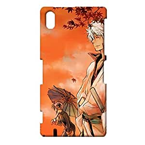 Durable 3D Hard Plastic Cover Snap on Sony Xperia Z2,Positive Awesome Gintama Printed Phone Case Caricature Theme Skin Case