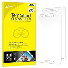 Nexus 6P Screen protector, JETech 2-Pack [CutOut for Proximity Sensor] Premium Tempered Glass Screen Protector Film for Huawei Nexus 6P - 0913