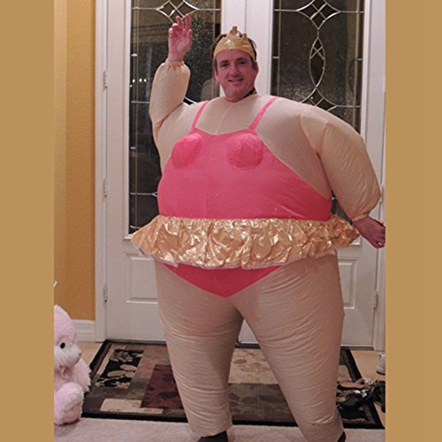 Fat Suits Costume (Edealing 1PCS Inflatable Ballerina Fancy Dress Costume Fat Suit Stag Hen Night Outfit)