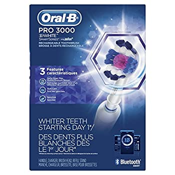 Oral-b Pro 3000 Electronic Power Rechargeable Battery Electric Toothbrush With Bluetooth Connectivity Powered By Braun 4