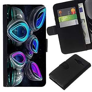 All Phone Most Case / Oferta Especial Cáscara Funda de cuero Monedero Cubierta de proteccion Caso / Wallet Case for Samsung Galaxy Core Prime // Space Abstract