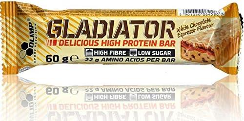 Olimp Gladiator White Chocolate Espresso - Proteinriegel (weiße Schokolade & Kaffee) 60g