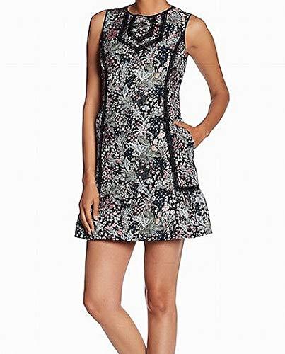 - Laundry by Shelli Segal Pink Floral Jacquard Shift Dress Black 4